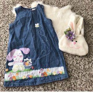 Other - Toffee Apple Toodler Girl Easter Dress/Tote Bag 4T